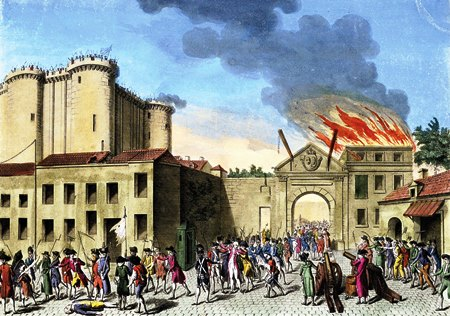storming the Bastille July 14 1789