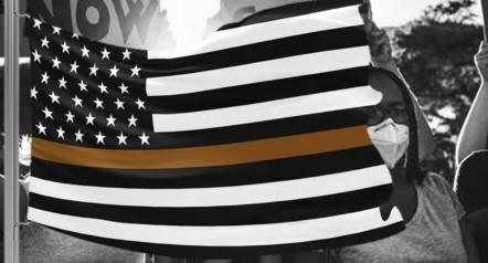 Brown Stripe American Flag