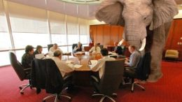 elephant at the table