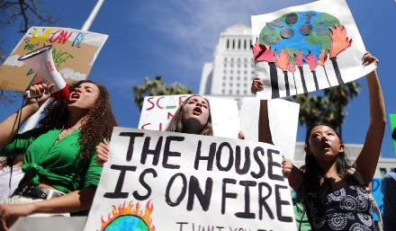 The House is on Fire LA Protestors