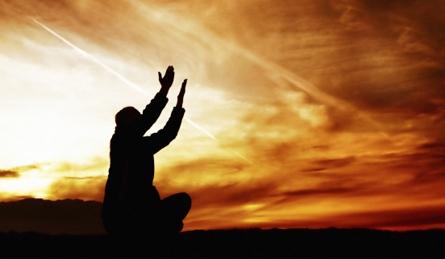 A man is praying to God