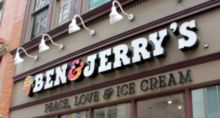 ben and jerry's ice-cream storefront