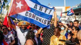 Cuba's protestors on road