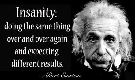 definition of insanity and Einstein image together
