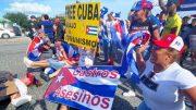 protestors in Cuba