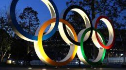 Olympic rings symbol in Japan