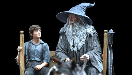 """Gandalf and Frodo together: Image from the """"Lord of the Ring"""" movie"""