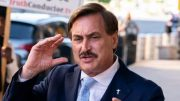 Mike Lindell in blue suit