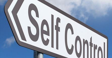 "A signboard where written ""Self Control"""