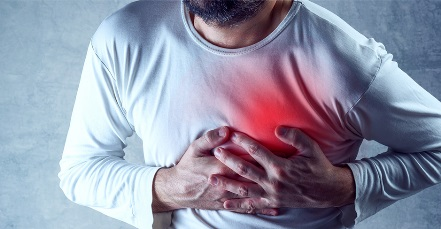 A young man in heart attack