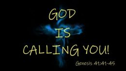 """An image where written """"God is calling you"""""""