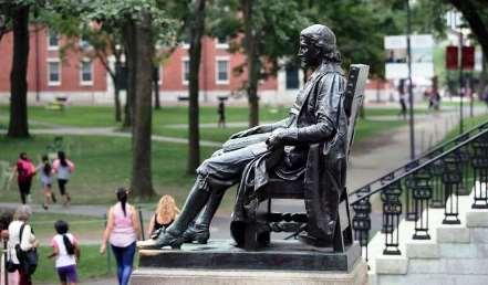 Reverend John Harvard statue