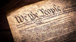 This image shows the page of U.S Constitution