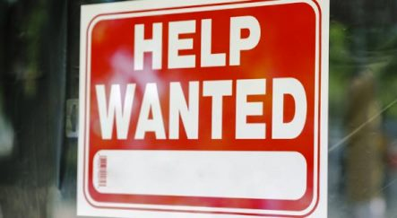 """""""Help Wanted"""" sign image"""