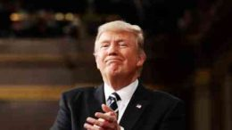 Donald Trump is clapping